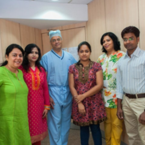 dr ramana with his patients