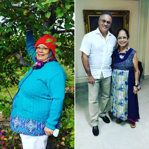 doctor ramana with his patient after her obesity surgery